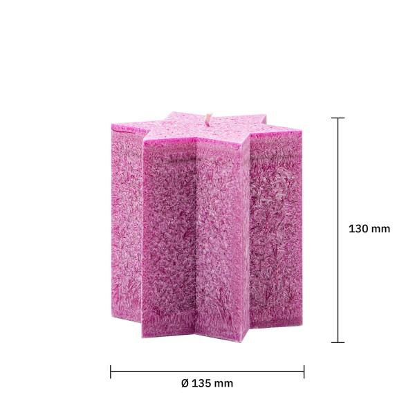 Sternkerze pink