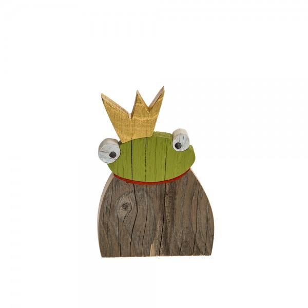Froschkönig Recyclingholz - mini
