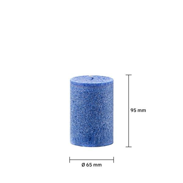 Blockkerze marineblau