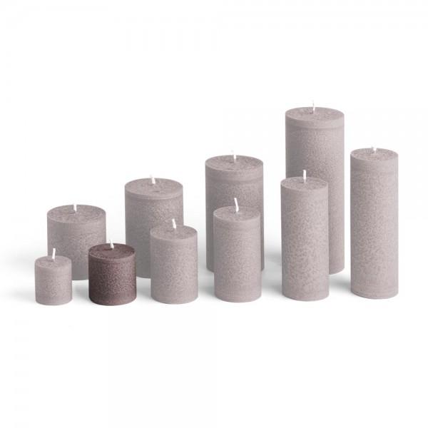 D05026 - Blockkerze braun, Durchmesser 50mm, Höhe 50mm