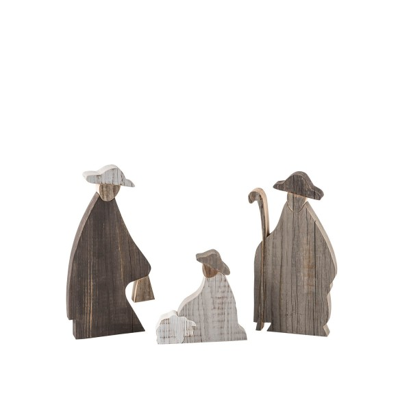 Weihnachten Krippe Hirten Krippefiguren aus Holz