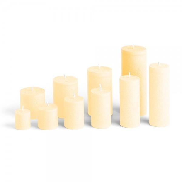 E17521 - Blockkerze crème, Durchmesser 65mm, Höhe 175mm