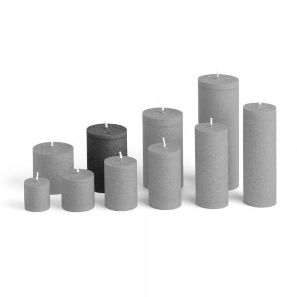 E09527 - Blockkerze anthrazit, Durchmesser 65mm, Höhe 95mm