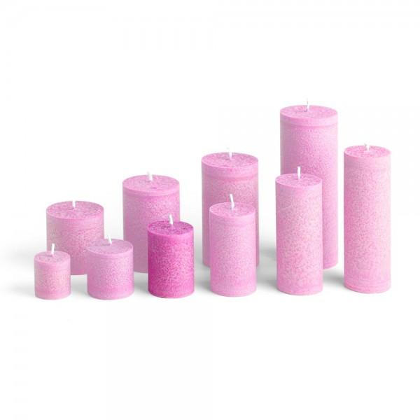 D07013 - Blockkerze pink, Durchmesser 50mm, Höhe 70mm