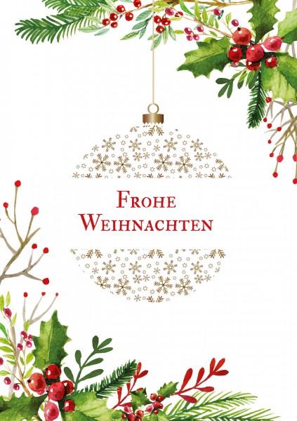 Weihnachtskarte - Weihnachtskugel