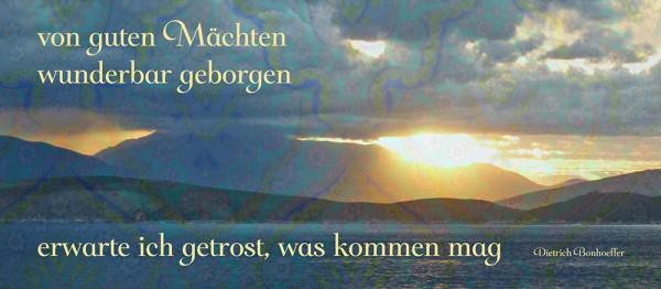 910846 - Windlichtkarte: Von guten Mächten (Sonnenuntergang)