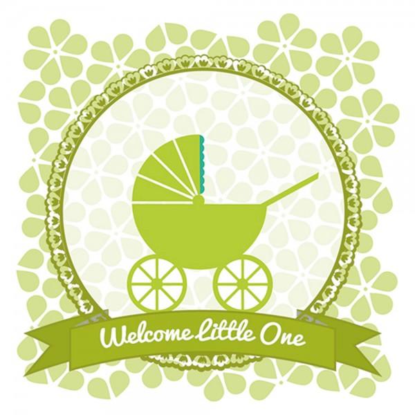 910454 - Perlenkarte Baby-grün