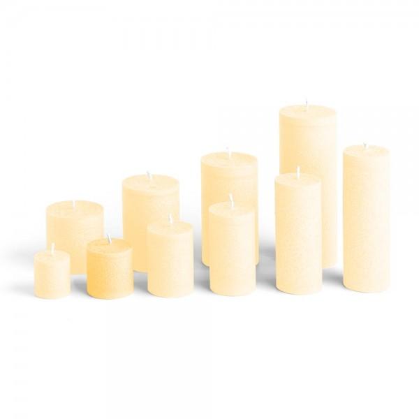 D05021 - Blockkerze crème, Durchmesser 50mm, Höhe 50mm