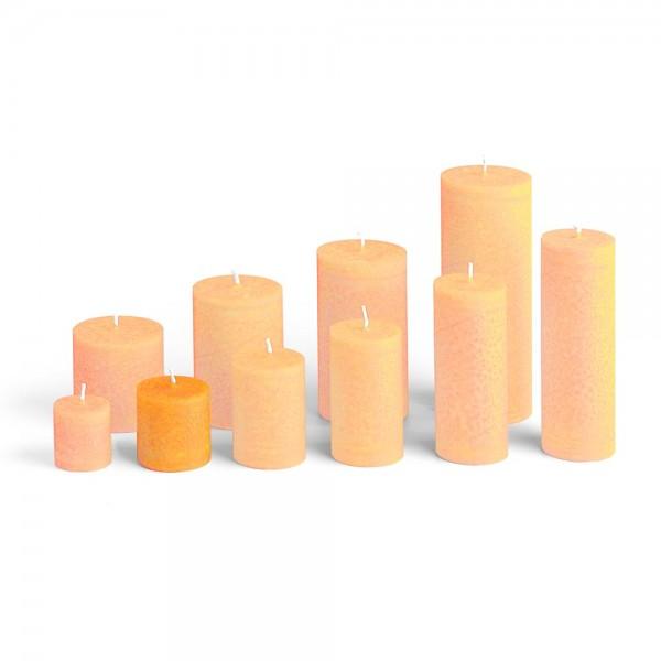 D05018 - Blockkerze orange, Durchmesser 50mm, Höhe 50mm