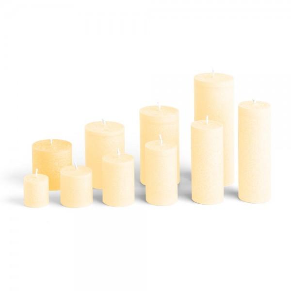 E06521 - Blockkerze crème, Durchmesser 65mm, Höhe 65mm