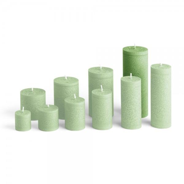Blockkerze tannengrün, ⌀65mm, Höhe 175mm