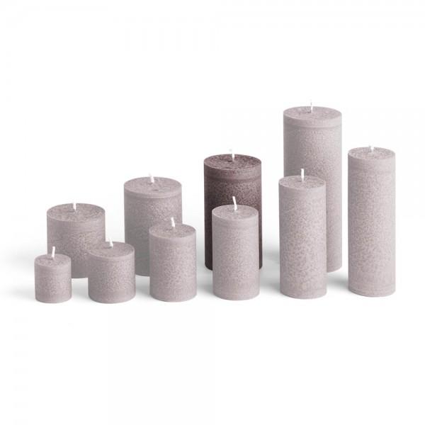 E12025 - Blockkerze sand, Durchmesser 65mm, Höhe 120mm