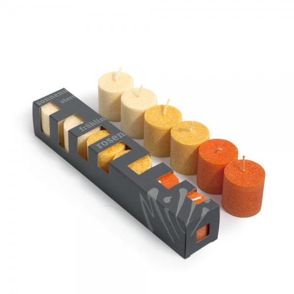G081 - Geschenkbox 6er Blockkerzenböxli G81
