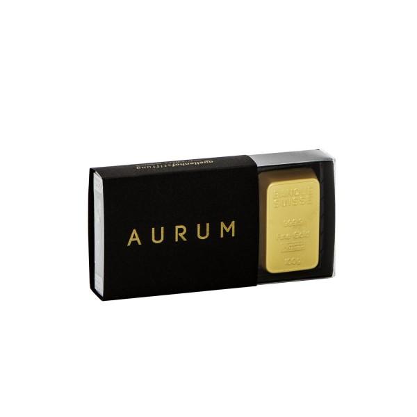 Schokolade-Goldbarren AURUM (3er-Box)