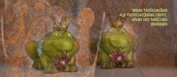 910753 - Windlicht (3 Stk.): Wenn Froschkönig auf Froschkönigin trifft ( 2 Frösche)
