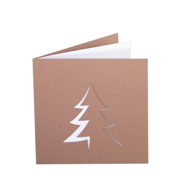 Weihnachtskarte - O-Tannenbaum - Lasercut