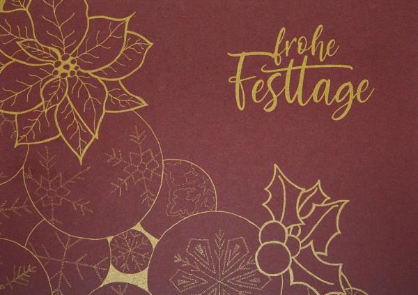 Weihnachtskarte - Festtage botanisch A5