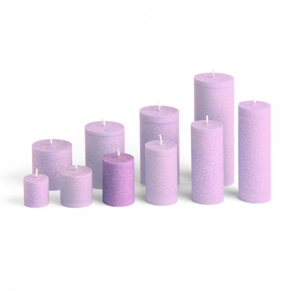 D07010 - Blockkerze violett, Durchmesser 50mm, Höhe 70mm