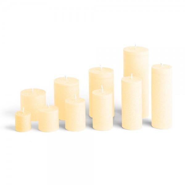 C04021 - Blockkerze crème, Durchmesser 38mm, Höhe 40mm