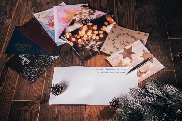 Set mit 9 Weihnachtskarten