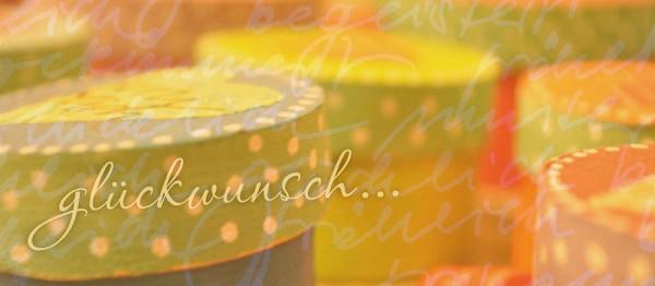 910949 - Windlicht (3 Stk.): Glückwunsch (runde Boxen)