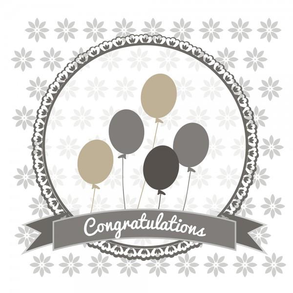 910492 - Perlenkarte Congratulations-grau