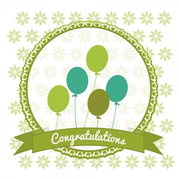 910494 - Perlenkarte Congratulations-grün