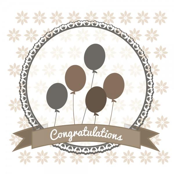 910491 - Perlenkarte Congratulations-braun