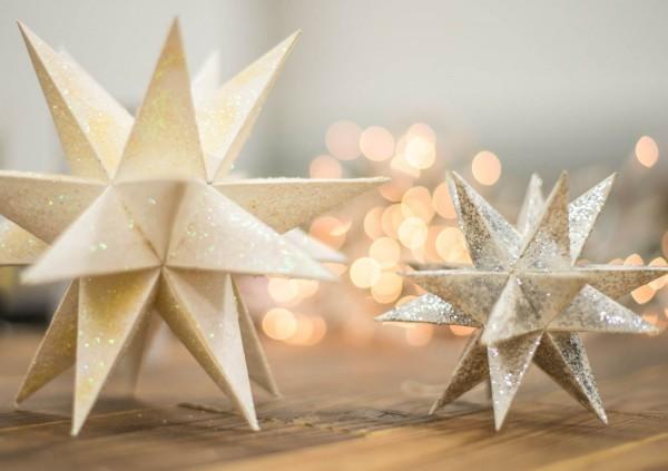 Weihnachtskarte - Glitzersterne