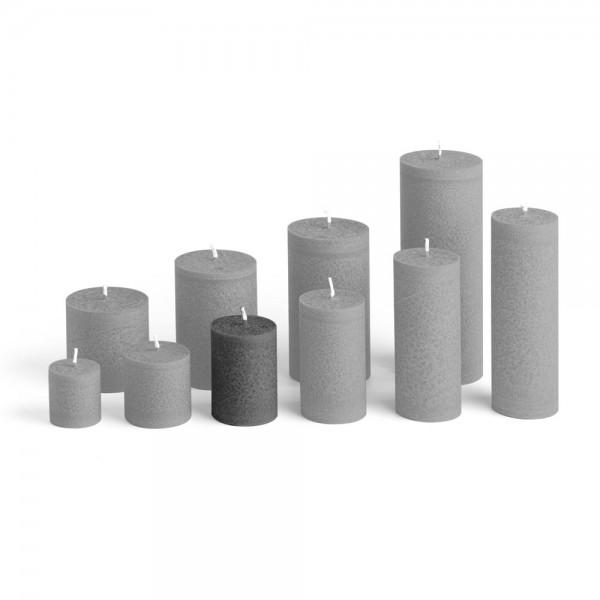 D07027 - Blockkerze anthrazit, Durchmesser 50mm, Höhe 70mm