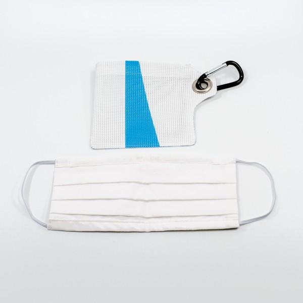 Upcycling Stoffmaske mit Schutzmasken-Etui KSW