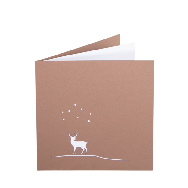 Weihnachtskarte - Hisch im Schnee - Lasercut