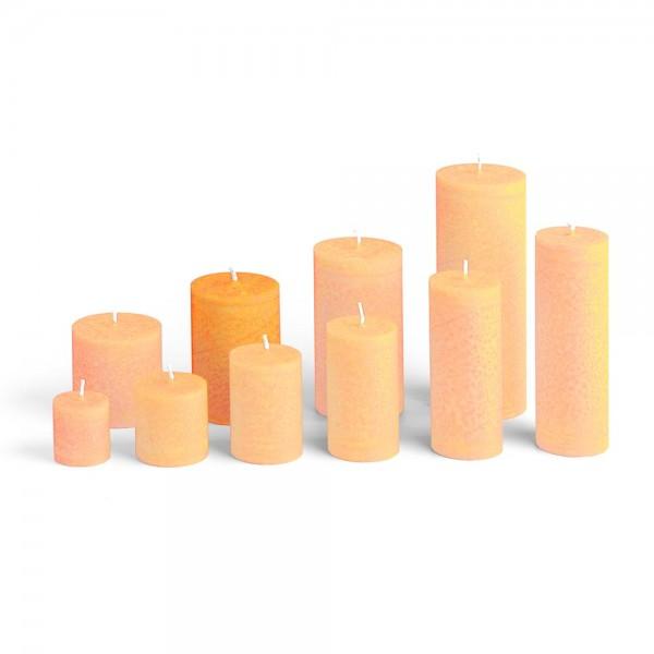 E09518 - Blockkerze orange, Durchmesser 65mm, Höhe 95mm