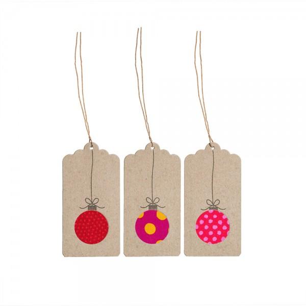 Geschenkanhänger Wiehnacht - rot