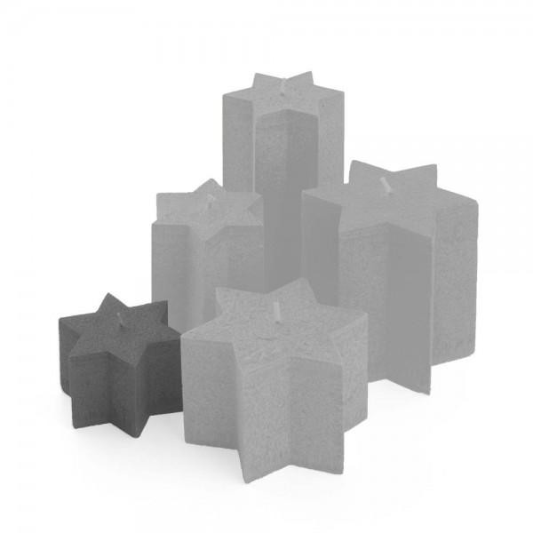 K06027 - Sternkerzen anthrazit, ⌀100mm, Höhe 60mm