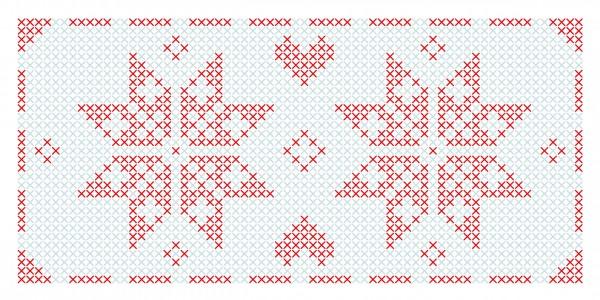 Weihnachtskarte - Kreuzstich-Stern