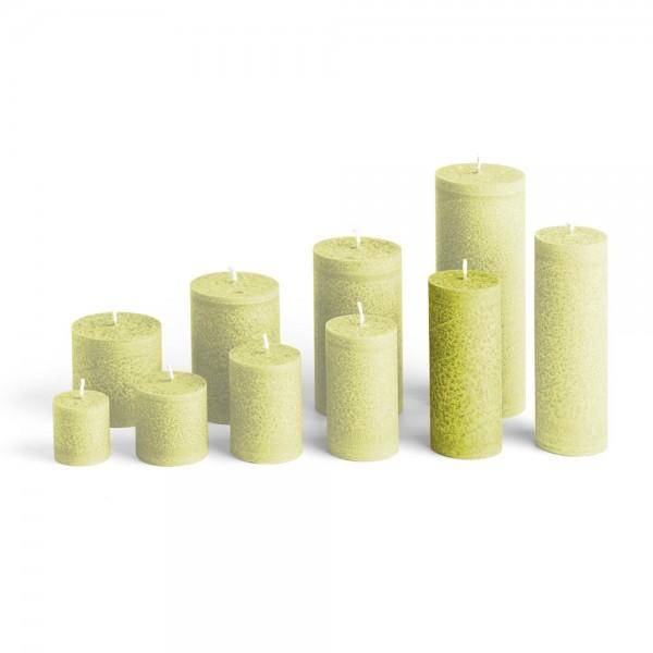 D12023 - Blockkerze hellgrün, Durchmesser 50mm, Höhe 120mm