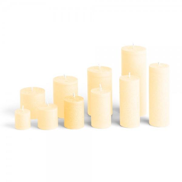 D07021 - Blockkerze crème, Durchmesser 50mm, Höhe 70mm