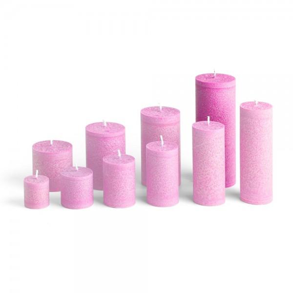 E17513 - Blockkerze pink, Durchmesser 65mm, Höhe 175mm